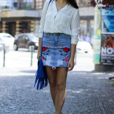 jeansowa spodniczka warszawa